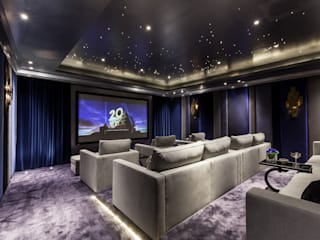 Bespoke Home Cinema:  Media room by Mille Couleurs London