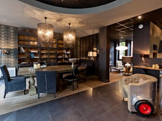 Agencement salle à manger - séjour: Espaces commerciaux de style  par IDKREA