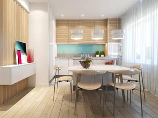 Квартира Ap76: Столовые комнаты в . Автор – KYD BURO