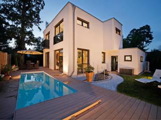 Architektenvilla im Würmtal Moderne Häuser von Gerhard Blank Fotografie für Immobilien & Architektur Modern