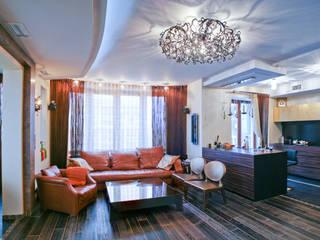 Гостиная - студия: Гостиная в . Автор – Архитектурная студия Ollandstudio