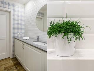 Phòng tắm phong cách Địa Trung Hải bởi Anna Serafin Architektura Wnętrz Địa Trung Hải