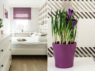 Phòng ngủ phong cách Địa Trung Hải bởi Anna Serafin Architektura Wnętrz Địa Trung Hải