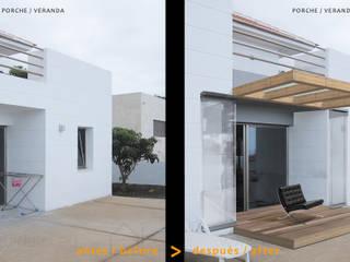 EXTENSION DE ZONA DE ESTAR INTERIOR:  de estilo  de ARQUiDEAS.TENERIFE consultorio de arquitectura