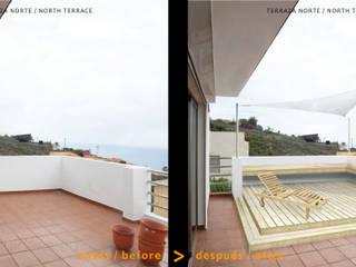 MEJORA DE USO DE TERRAZA NORTE:  de estilo  de ARQUiDEAS.TENERIFE consultorio de arquitectura