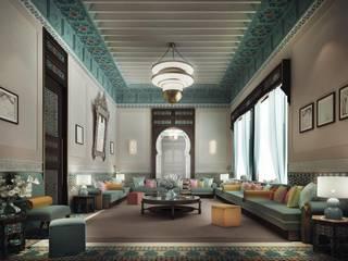 Interior Design & Architecture by IONS DESIGN Dubai,UAE Salas de estilo mediterraneo de IONS DESIGN Mediterráneo