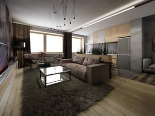 Квартира в современном стиле Гостиная в стиле минимализм от Circus28_interior Минимализм