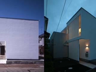 農園横の家_白い外壁のコントラスト モダンな 家 の 房総イズム モダン