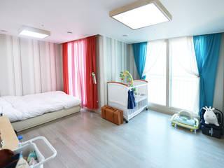 청라반도보라 2차 (Chunglabanbobora 2nd) Dormitorios de estilo moderno de 진플랜 Moderno