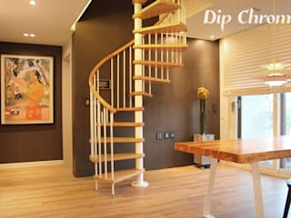 광주 복층 빌라: dip chroma의  복도 & 현관