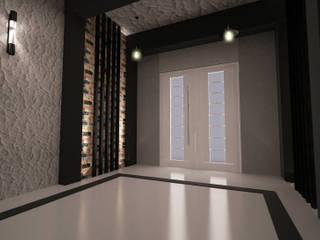Rustic style corridor, hallway & stairs by YAKAMOZ İÇ MİMARLIK VE TASARIM Rustic