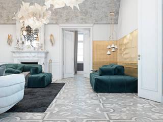 Residence in the Italian countryside: Гостиная в . Автор – Diff.Studio, Эклектичный