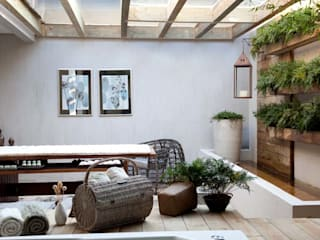 Tropical style spa by Perotto E Fontoura Estúdio de Arquitetura Tropical