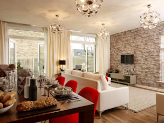 Great Kneighton: modern Living room by Countryside Properties