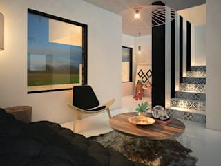斯堪的納維亞風格的走廊,走廊和樓梯 根據 Rotoarquitectura 北歐風