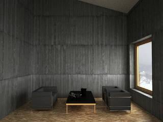 Belle Ville Atelier d'Architecture ミニマルスタイルな 壁&床 コンクリート 灰色