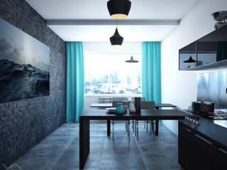 Кухня с элементами лофта Кухня в стиле лофт от Василий Сибирцев Лофт
