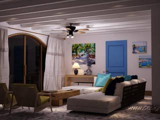 Salon méditerranéen par студия Design3F Méditerranéen