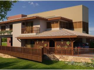 Casa R&M - Cachoeira do Campo - MG: Casas  por Vale Arquitetura,