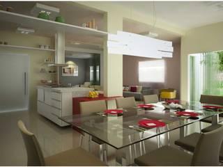 Arquitetura de Interiores - Ambientes Diversos: Salas de jantar  por Vale Arquitetura,