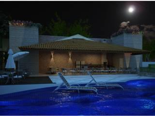Residenciais - Ambientes Externos - Diversos Varandas, alpendres e terraços rústicos por Vale Arquitetura Rústico