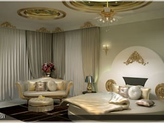 Arabian Style in Interiors Asian style bedroom by Monnaie Architects & Interiors Asian