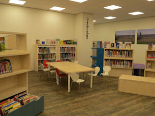 Bibliotheek IJburg Dick de Jong Interieurarchitekt Multimedia ruimteMeubels
