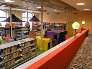 Jeugdbibliotheek Leeuwarden Dick de Jong Interieurarchitekt Multimedia ruimteMeubels