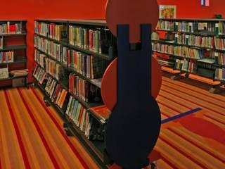 Bibliotheek Franeker Dick de Jong Interieurarchitekt Moderne mediakamers