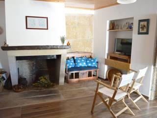 Casa de Campo das Sécias: Salas de estar  por MHPROJECT