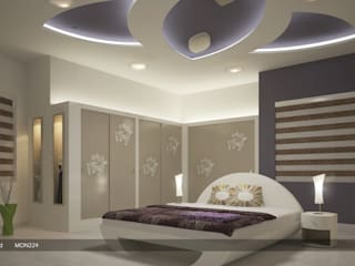 Modern Interior Design with Fabulous Features Modern style bedroom by Monnaie Architects & Interiors Modern