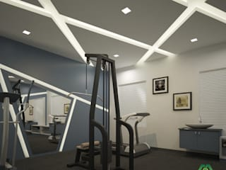 Modern Interior Design with Fabulous Features Modern gym by Monnaie Architects & Interiors Modern