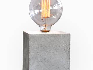 Lampa betonowa EDISON CUBE: styl , w kategorii  zaprojektowany przez I LIKE BETON