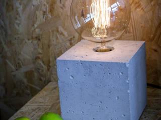 Lampa betonowa EDISON CUBE od I LIKE BETON Industrialny