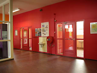 Interieur Basisschool oostvaarder Dick de Jong Interieurarchitekt Moderne scholen