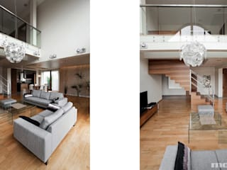 Salon de style  par Mono architektura wnętrz Katowice, Minimaliste