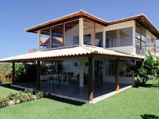 CHASTINET ARQUITETURA URBANISMO ENGENHARIA LTDA Tropical style houses Wood Wood effect