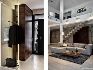 Couloir et hall d'entrée de style  par Mono architektura wnętrz Katowice, Moderne