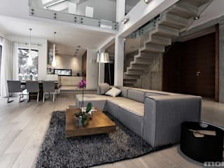 Salon de style  par Mono architektura wnętrz Katowice, Moderne
