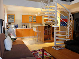 Aménagement de cuisine ouverte Salon moderne par Martin Schiller Design Studio Moderne