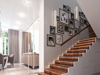 Modern corridor, hallway & stairs by Bronx Modern