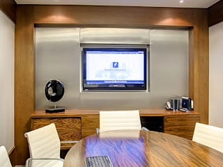 Sala de reuniões: Escritórios  por BG arquitetura | Projetos Comerciais