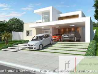 Elevação frontal - 2: Casas  por JF ARQUITETURA E URBANISMO,