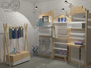 Stand para eventos Espaços comerciais escandinavos por Infinitta - arte | design | arquitetura | interiores | vm Escandinavo