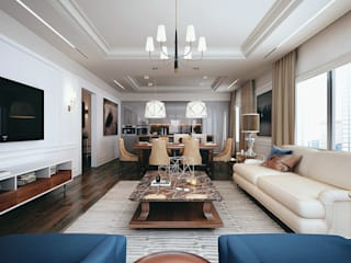 New York. Living room. Part I: Гостиная в . Автор – KAPRANDESIGN