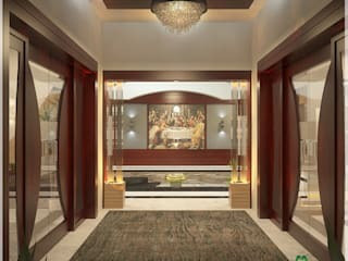 Indian Contemporary Design Modern corridor, hallway & stairs by Monnaie Architects & Interiors Modern