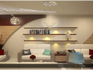 Indian Contemporary Design Modern living room by Monnaie Architects & Interiors Modern