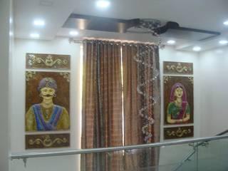 Independent Bunglow - Secunderabad , Hyderabad. Nabh Design & Associates Modern corridor, hallway & stairs