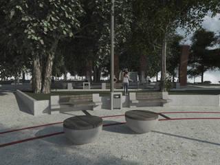 Plaza de Armas Negrete:  de estilo  por Power Renders