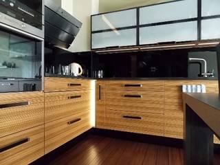 kuchnia, salon Nowoczesna kuchnia od Architektura Wnętrz Nowoczesny